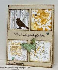 Stampin Up!  Choose Happiness.  Lisa Young uses all 6 stamps of the set on this card!  Add Ink and Stamp: Another Choose Happiness card