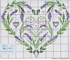 lavande cross stitch point de croix