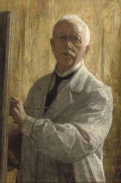 Self Portrait by Nicolaas van der Waaij (Dutch 1855-1936)