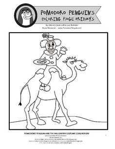 coloring page fridays no 5 clowning around