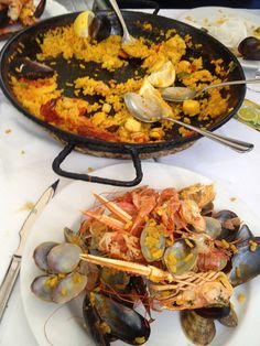 Stay and eat in Spain: The detritus of our Sunday paella feast in Barcelona