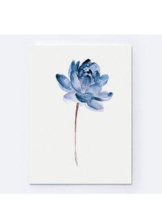 Acuarela de azules Lotos pintura ilustración minimalista moderno. Resumen flores Home Decor. Jardín de flores de regalo. Flores de agua fina lámina. Decoración de la pared de loto azul. Tipo de papel: Impresiones hasta (42 x 29, 7cm) 11 x 16 pulgadas tamaño se imprimen en el archivo ácido libre 270g/m2 papel acuarela blanco y conserva el aspecto de la pintura original. Más grandes impresiones se imprimen en 200g/m2 papel de cartel blanco semibrillante. Colores: Imprime el archivo ...