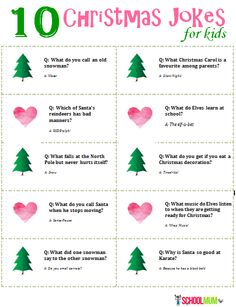 10 Christmas Jokes For Kids (with printable) - School Mum Christmas Jokes For Kids, Christmas Games, Christmas Activities, Christmas Printables, Family Christmas, Christmas Projects, Christmas Traditions, Christmas Humor, All Things Christmas