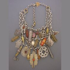 Contemporary necklace with antique tribal elements