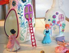 Casa de boneca - com material reciclado