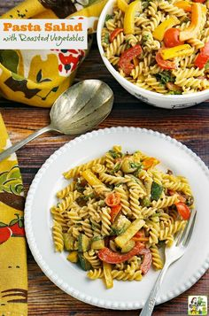 Looking for an easy gluten free pasta salad recipe that can be made in less than 30 minutes? Click to get this Pasta Salad with Roasted Vegetables recipe. Ideal for cookouts, brunch parties, tailgating or potlucks. Can be made with gluten free pasta, whol