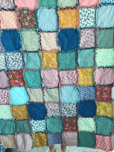Brand New Fantastic Brightly Multi  Colored Strand/'s of  Christmas Lights  Double Sided Hand Tied Fleece Rag Blanket