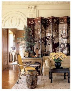 Socialite Dodie Rosenkrans San Francisco home decorated in 1970's by Michael Taylor