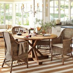 S check out World Market round table. Gojee - Canberra Woven Chair by Williams-Sonoma