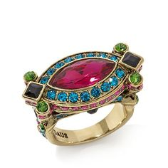 """Heidi Daus """"Armed with Charm"""" Crystal Ring"""