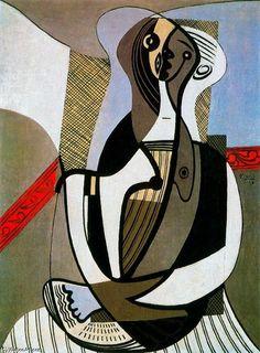 Mujer sentada 8, óleo de Pablo Picasso (1881-1973, Spain)
