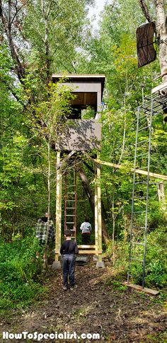 Building a deer tower for my son and I with your plans with a little bit of changes. Deer Blind Plans, Tower Stand, Duck Blind, Around The Worlds, Diy Projects, Outdoor Structures, How To Plan, Building, Buildings