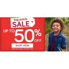 Up to 50% Off on Selected Styles @ Pumpkin Patch - Bargain Bro