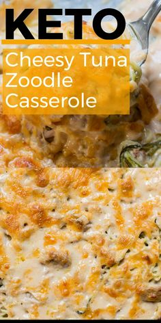 Tuna Zoodle Casserole This Keto Tuna Zoodle Casserole is the perfect low carb comfort food! This dish is only net carbs and packed with zucchini noodles, a creamy cheese sauce and chunks of tuna. This Keto Tuna Zoodle Casserole is the perfect low carb Healthy Low Carb Recipes, Ketogenic Recipes, Diet Recipes, Chicken Recipes, Cooking Recipes, Keto Chicken, Healthy Weight, Ketogenic Diet, Low Carb Hamburger Recipes
