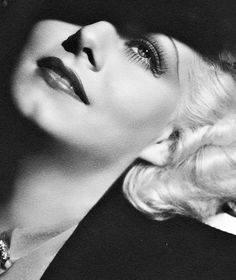 Jean Harlow I saw this and had to post it. Her face, the way it's angled, resembles my mother when she was young. I can't get over the resemblance.