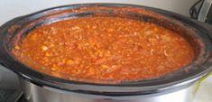 Whole30, Spagetti Sauce, Paleo, Poutine, French Food, Chana Masala, Slow Cooker Recipes, Chili, Menu