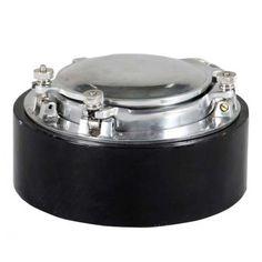 Metal and marble ashtray Porthole