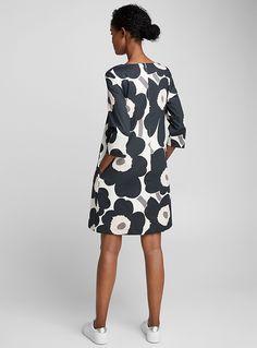 Unelma Unikko dotted dress - Marimekko - Black and White Diy Dress, Dress Skirt, Robe Diy, Looks Plus Size, Clothing Sites, Wholesale Fashion, Designing Women, Dress Patterns, Woman Clothing