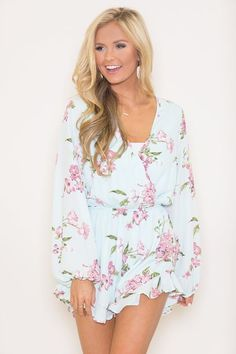 Let Me Be Yours Floral Romper