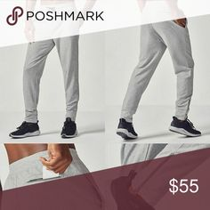 Heather Grey Central Zip Joggers New with tag! FL2 Heather Grey Zip Joggers  -Made for jogging and beyond, this sweat-fighting jogger does it all, thanks to a comfortable elastic waistband, convenient pockets to hold your gear and zippers at the ankles for extra airflow. -Elastic Waistband with Drawcord, Soft Performance Terry, Moisture-Wicking Technology, Zippers at Ankles, Side Pockets and Back Zipper Pocket -size small FL2 Pants Sweatpants & Joggers