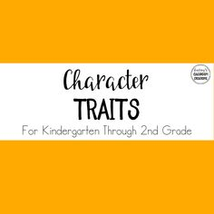 Character trait ideas, activities, and crafts for the kindergarten, first grade, and second grade classrooms. First Grade, Second Grade, Teaching Character Traits, Character Creation, Kindergarten, Classroom, Student, Activities, Crafts