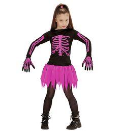 40d7ec22 #Barnekostymer - Halloween Barnekostyme - Ballerinaskjelett - Rosa.  Ballerina skjelettkostyme til jenter.Kostymepakken