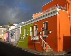 'Bo-Kaap - Cape Town Malay District' by Margaret Hyde Hyde, Cape Town, South Africa, Roots, Mansions, House Styles, Shirt, Dress Shirt, Fancy Houses