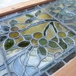 stained-glass-repair-after Vintage stained glass windows often need repairs. Learn tips and tricks so you can restore your stained glass.