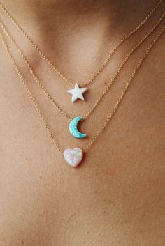Opal 'Dream' Moon Charm 'The Quest of Hayley Starr' Opal Necklace, Opal Jewelry, Jewelry Box, Jewelry Accessories, Fashion Accessories, Fashion Jewelry, Moon Necklace, Jewlery, Pandora Bracelets