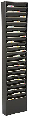 Displays2go File Folder Wall Rack 20 Pockets Tiered Office  Medical Charts Black Steel JMFF20BLK -- You can find more details by visiting the image link.
