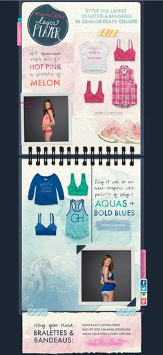 Bralettes & Bandeaus – Clothing HTML email marketing design