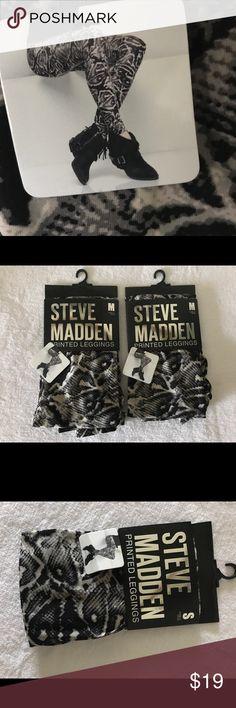 NEW Steve Madden Print Pattern Leggings New with tags  Steve Madden patterned/printed Leggings. Price is per pair (small & medium available) Steve Madden Pants Leggings