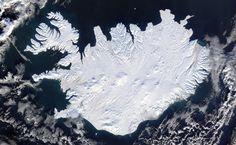 vue aérienne - Islande hiver 2014