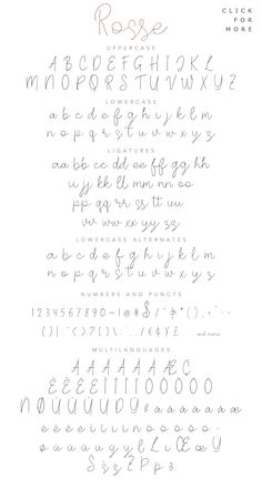 Rosse – Casual Beauty Font – A casual and beautiful modern calligraphy font. It … Rosse – Casual Beauty Font – A casual and beautiful modern calligraphy font. It would be a perfect mate for branding, logo, wedding things, greeting… Continue Reading → Calligraphy Fonts Alphabet, Hand Lettering Alphabet, Handwriting Fonts Alphabet, Script Fonts, Handwritten Fonts, Cursive Letters, Pretty Fonts Alphabet, Typography, Cursive Handwriting Practice