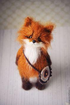 Knitted Toy Fox | Купить Маленький Лисенок - лис, лисенок, лисенок тедди, лисенок игрушка, лисенок из шерсти, лиса