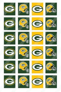 Football Clip Art - Personal or Commercial Use Green and Yellow ...