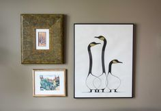 Native art in a group of three hanging on wall Small Tables, Native Art, Hanging Art, Home Look, Gallery Wall, Group, Interior Design, Create, Artwork