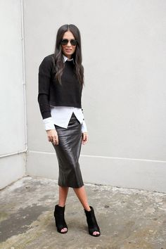 gorgeous leather skirt More
