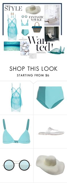 """""""Caribe"""" by mfpblau ❤ liked on Polyvore featuring Cosabella, Alix, Stuart Weitzman, Kyme, H&M and J.Crew"""