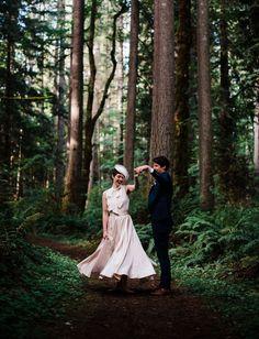 Audrey Hepburn Meets Wes Anderson Wedding in the Pacific Northwest    #pnwwedding