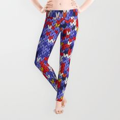 Knitted multicolor pattern 2 Leggings