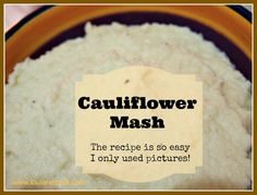 So delicious- Cauliflower, butter, salt and pepper- steam/blitz/serve!
