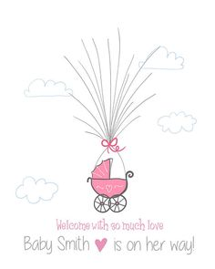 Baby shower guestbook thumbprint guestbook by Anietillustration
