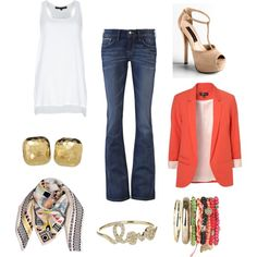 love the colors, created by marie-barajas.polyvore.com
