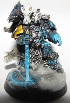 Argyle's beautifully painted Space Wolf, Hjal Stormcaller.