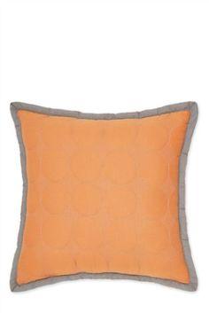Orange Quilted Circle Cushion