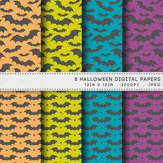 Halloween Printable Paper Pack Bats Digital Paper by AzmariDigitals, £1.60