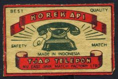 Koleksi Tempo Doeloe: Koleksi 14 bh. Label Korek api Indonesia Jadul (Vintage collection. Indonesian matchbox label)