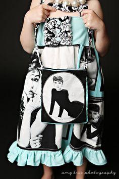 You Choose Marilyn Monroe or Audrey Hepburn Tote by blumoondesign, $12.00