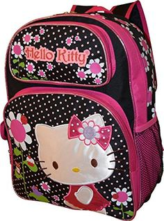 Hello Kitty Deluxe embroidered 16 School Bag Backpack >>> Check this awesome product by going to the link at the image.